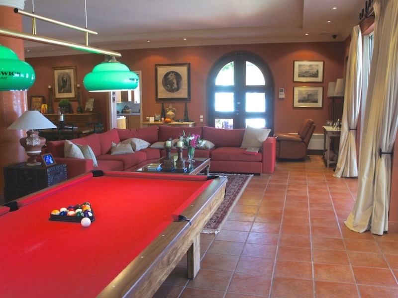 Living room pool table